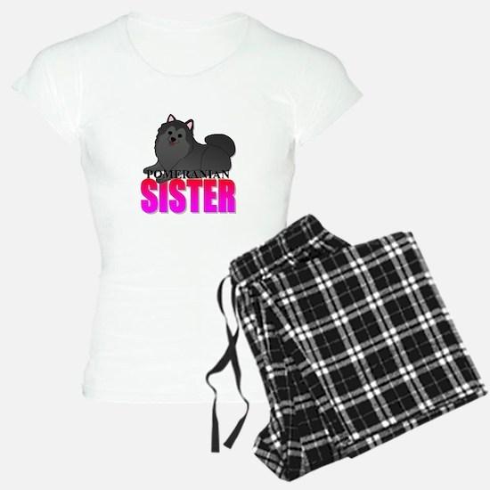 Black Pomeranian Sister Pajamas
