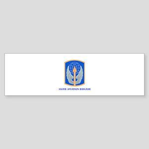 SSI - 166th Aviation Brigade with Text Sticker (Bu
