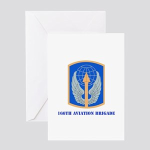 SSI - 166th Aviation Brigade with Text Greeting Ca