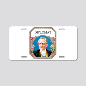 Diplomat Cigar Label Aluminum License Plate
