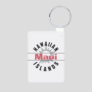 Maui Hawaii Aluminum Photo Keychain