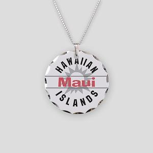 Maui Hawaii Necklace Circle Charm