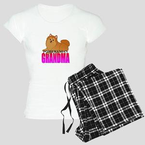 Orange Pomeranian Grandma Women's Light Pajamas