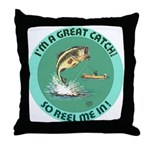"""A Great Catch"" Throw Pillow"