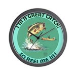 """""""A Great Catch"""" Wall Clock"""