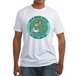 """""""A Great Catch"""" Fitted T-Shirt"""