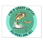 """""""A Great Catch"""" Small Poster"""