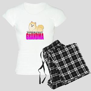Cream Pomeranian Grandma Women's Light Pajamas
