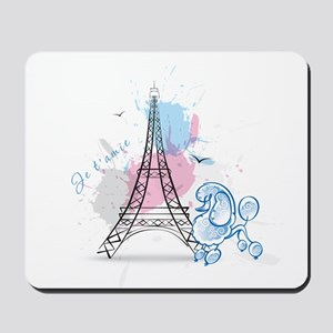 Paris Poodle Mousepad