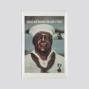 Black Servicemen Above & Beyond Rectangle Magnet