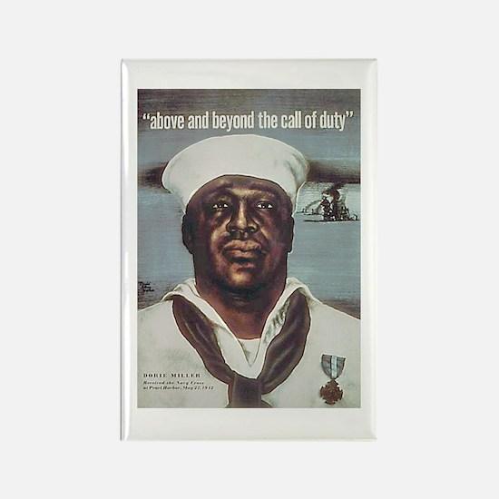 Black Servicemen Above & Beyond Rectangle Magnet