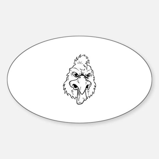 Cute Rooster head Sticker (Oval)
