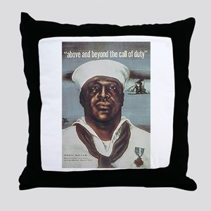 Black Servicemen Above & Beyond Throw Pillow