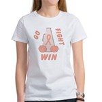 Peach WIN Ribbon Women's T-Shirt