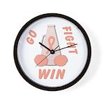 Peach WIN Ribbon Wall Clock