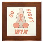Peach WIN Ribbon Framed Tile