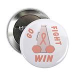 Peach WIN Ribbon Button