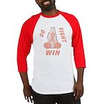Peach WIN Ribbon Baseball Jersey