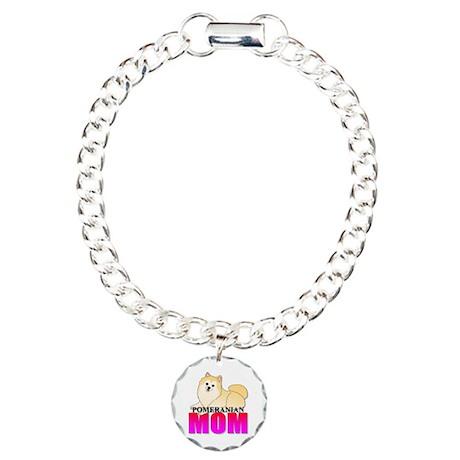 Pomeranian Mom Charm Bracelet, One Charm