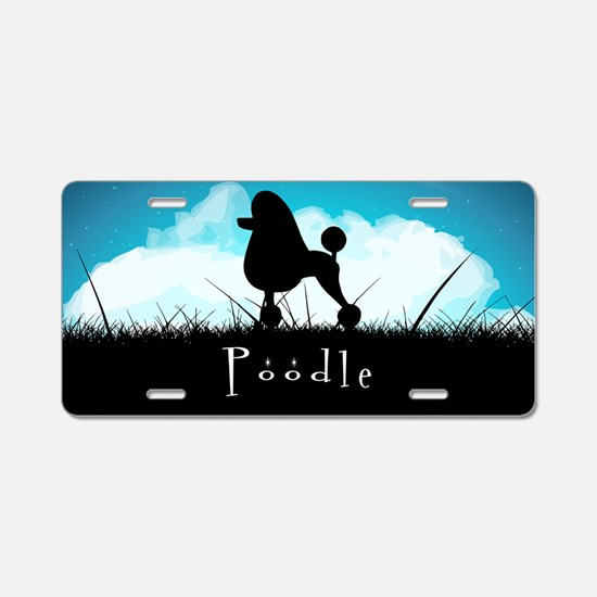 Nightsky Poodle Aluminum License Plate