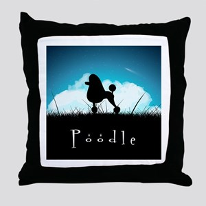 Nightsky Poodle Throw Pillow
