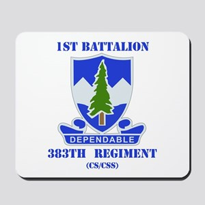 DUI - 1st Bn - 383rd Regt (CS/CSS) with Text Mouse