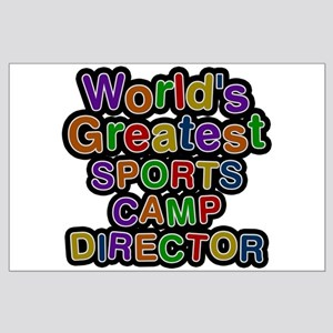 World's Greatest SPORTS CAMP DIRECTOR Large Poster