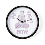 Orchid WIN Ribbon Wall Clock