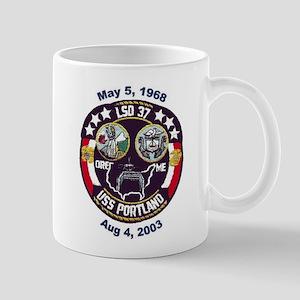 USS Portland LSD 37 Decommission Mug