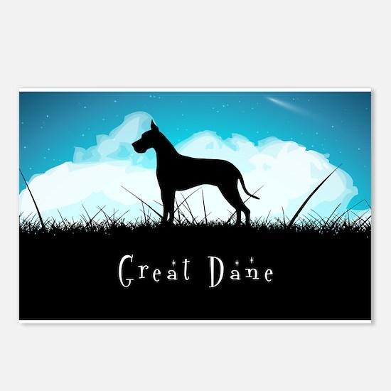 Nightsky Great Dane Postcards (Package of 8)