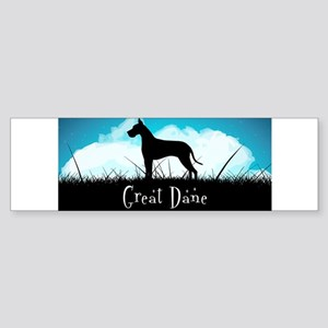 Nightsky Great Dane Sticker (Bumper)