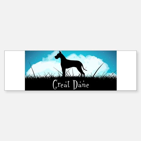 Nightsky Great Dane Sticker (Bumper)