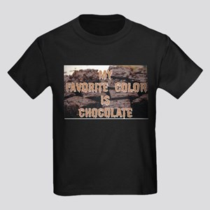 Favorite Color is Chocolate Kids Dark T-Shirt