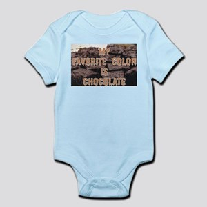 Favorite Color is Chocolate Infant Bodysuit