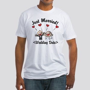 Just Married (Add Your Wedding Date) Fitted T-Shir