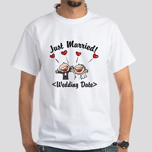 Just Married (Add Your Wedding Date) White T-Shirt