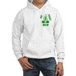 Green WIN Ribbon Hooded Sweatshirt