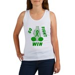 Green WIN Ribbon Women's Tank Top