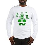 Green WIN Ribbon Long Sleeve T-Shirt