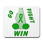 Green WIN Ribbon Mousepad