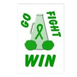 Green WIN Ribbon Postcards (Package of 8)