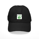 Green WIN Ribbon Black Cap