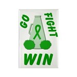 Green WIN Ribbon Rectangle Magnet (10 pack)