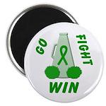 Green WIN Ribbon Magnet