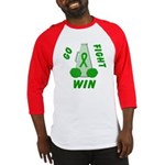 Green WIN Ribbon Baseball Jersey