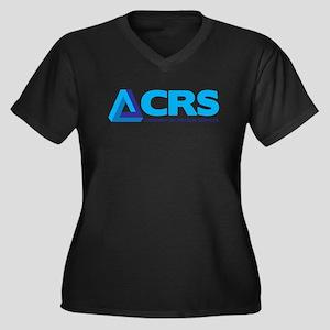 CRS Women's Plus Size V-Neck Dark T-Shirt