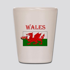 Wales Rugby Shot Glass