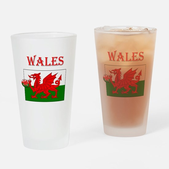 Wales Rugby Drinking Glass