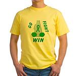 Green WIN Ribbon Yellow T-Shirt