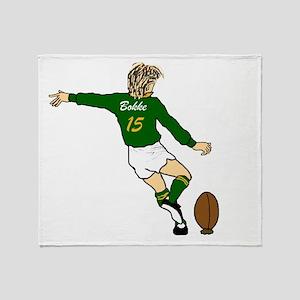 Springbok Rugby Fullback Throw Blanket